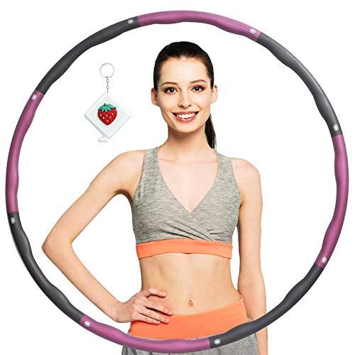 Fitnesskreis Reifen Hoop, Gewichteter Hoop Einstellbare Größe für Reifen Erwachsene Kinder, Hula Fitness reifen gepolstert 8 Wellenabschnitte Spleißen Abnehmbar für abnehmen Übung GYM Workout
