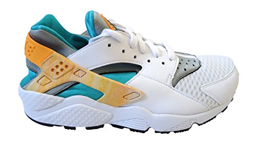 Nike Womens air Huarache Trainers 634835 Sneakers Shoes (UK 6.5 US 9 EU 40.5, White Atomic Mango Turbo Green 183)