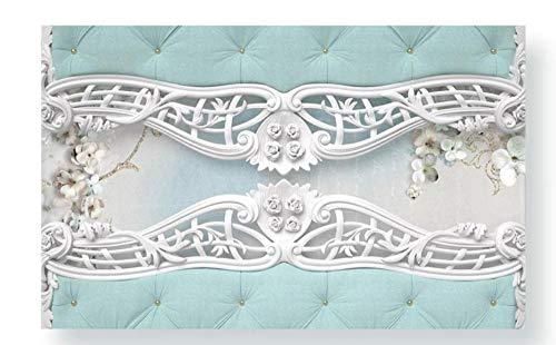 Muurstickers & Muralsllpaper Moderne Scandinavische stijl Pleister Europese Patroon Achtergrond Muurpapieren Home Decor Papier Peint 350 * 245cm