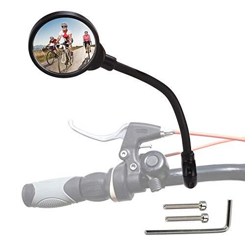 Rupse 2 Stück Fahrradspiegel Rückspiegel, 360°drehbar und verstellbar Weitwinkel Radfahren Rückspiegel Lenker, Rückspiegel 22-32mm für Mountain Road Bike, Rennrad, Fahrrad, Motorrad(Links&rechts)