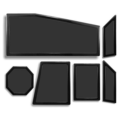 DEMCiflex Dust Filter Kit for Cooler Master Storm Trooper (6 Filters), Black Frame/Black Mesh