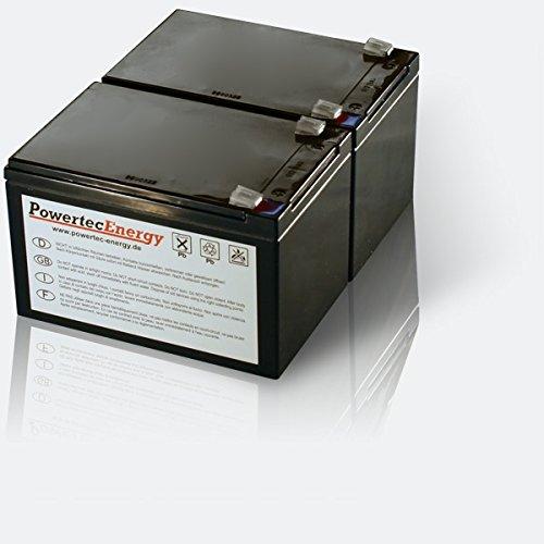 Powertec Energy RBC6 - Sistema de alimentación ininterrumpida, negro [Importado]