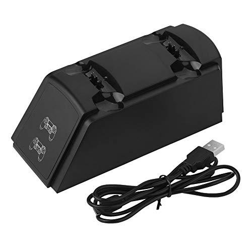 Oplaadstation, 2-in-1 dubbel USB-oplaadstation, oplader voor oplaadstation, voor PS4-handgreep met LED-lampje, met uitstekende uitstraling en lichtgewicht