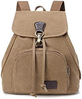 New Retro Tide Girls Outdoor Canvas Backpack Bag Fashion Backpack (Color : Coffee)
