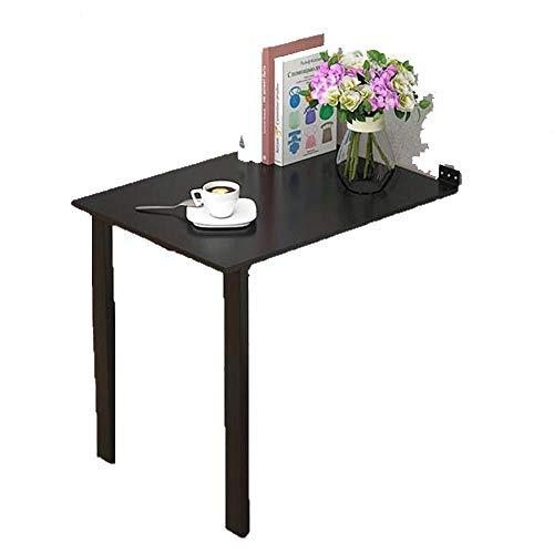 AOIWE Mesa plegable de madera para pared, escritorio plegable, para el hogar, pequeño apartamento simple, escritorio de ordenador, escritorio de escritorio, mesa de comedor (tamaño: 80 x 40 cm)