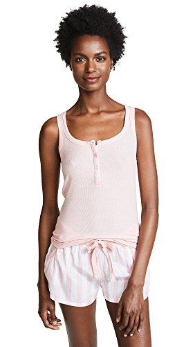 Calvin Klein Women's Millenial Pj Sleeveless Short Set, db Stripe Vertical Pure Cerulean, M