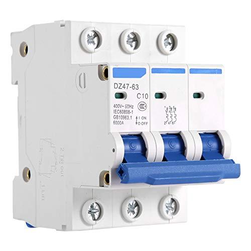 Disyuntor en miniatura 400V Mini disyuntor de acción sensible Inoxidable Incombustible para caja combinadora Sistemas de CC Generación de energía solar(10A)