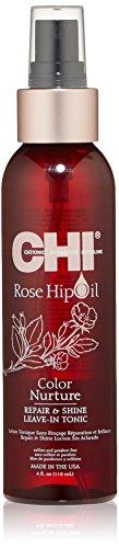 CHI Rose Hip Oil Color Nurture Repair & Shine Leave-In Tonic for Unisex 4 oz Spray