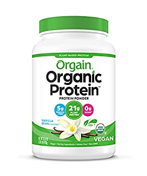 Orgain Organic Plant Based Protein Powder Vanilla Bean - Vegan Low Net Carbs Non Dairy Gluten Free Lactose Free No Sugar Added Soy Free Kosher Non-GMO 2.03 Pound  Packaging May Vary