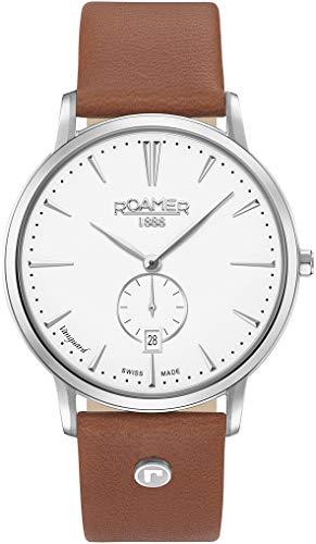 ROAMER Herren Analog Quarz Uhr mit Leder Armband 980812 41 25 09