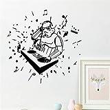 stickers muraux chambre sticker mural science fiction film star war character robot rock music DJ home decal wall stickers boy bedroom wall art