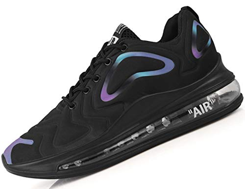 SINOES Hombre 720 Caña Baja Gimnasia Ligero Transpirable Casuales Sneakers de Exterior y Interior Zapatillas Deporte Zapatos Tenis de Mesa Negro 42 EU