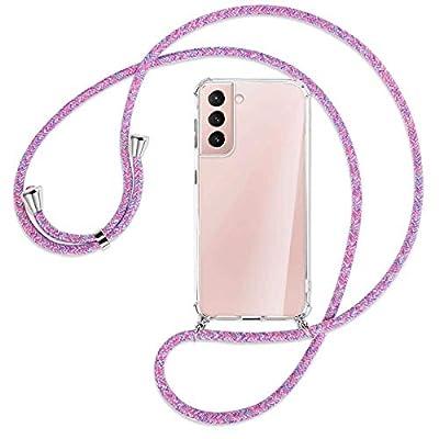 mtb more energy® Collar Smartphone para Samsung Galaxy S21 Plus, S21+ 5G (SM-G996, 6.7'') - Unicornio Morado - Funda Protectora ponible - Carcasa Anti Shock con Cuerda Correa