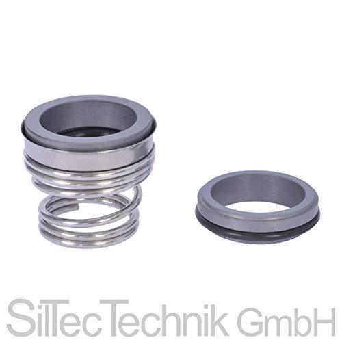 SilTec Gleitringdichtung 155 (BT-FN) Sic/CA/Viton 10-40 mm inkl. Gegenring Durchmesser: 14 mm
