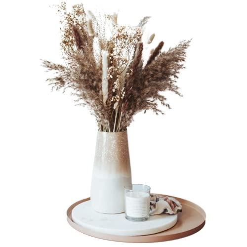 Mia Milano Trockenblumen Strauß mit echtem Pampasgras und Eukalyptus I Getrocknete Blumen Deko Wohnzimmer I Boho Blumenstrauß aus getrockneten Naturprodukten