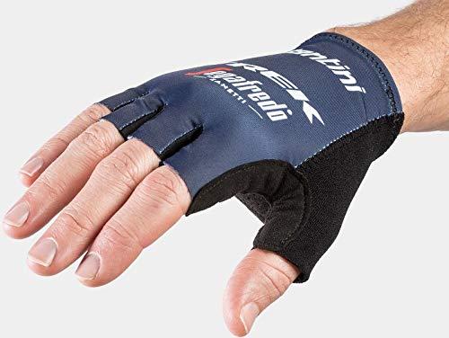 Bontrager Santini Trek Segafredo Team Fahrrad Handschuhe kurz blau 2021: Größe: M (8)