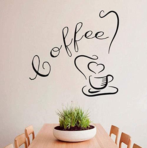 Muursticker wandklok wandklok mok koffie drankje keuken koffie interieur design huis kunst 44 x 44 cm