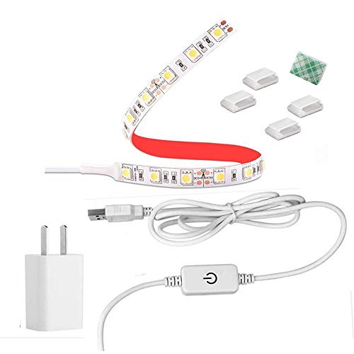 BOESVHO Sewing Machine Light LED Strip, fits All Sewing Machine, with Touch Dimmer and USB Power, 6500k Cold White Light,Sewing Machine Lighting Lights