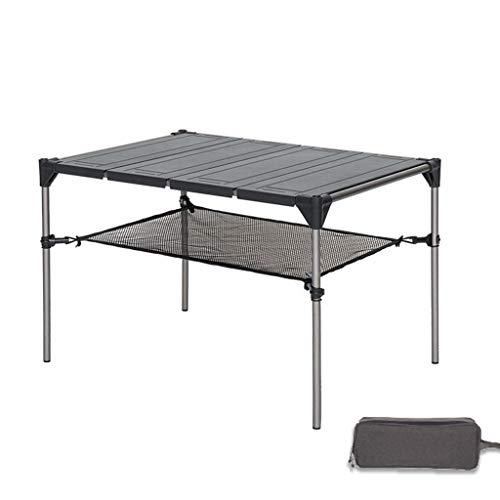 AQUYY Outdoor vouwbare campingtafel, draagbaar veelzijdig aluminium super licht, bij picknick, kamp, strand, eten, snijden, koken en branders en gemakkelijk te reinigen