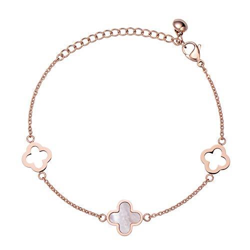 Rose Color for Clover Bracelet of Best Gift for Girls and Women…