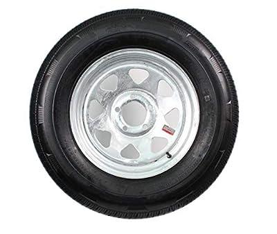 2-Pack Trailer Tire On Galvanized Rim ST215/75D14 Load C 5 Lug/4.5 14x6 Wheel