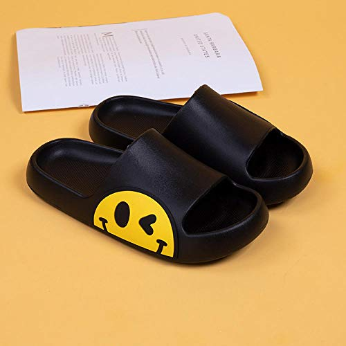 TDYSDYN Flip Flop Mule Sandals Shoe,Couple platform sandals and slippers, bathroom non-slip slippers-black_6.5-7,Sole Open Toe House Slippers