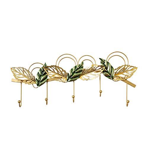 YHDP Wandkapstok, metalen wand-mantel-rek, woonkamer decoratie kapstok, sleutelhanger, ingang frame goud 26,4 inch