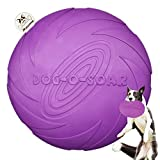 MAOMEI Dog Frisbee Indestructible Disc Toy Soft Flyer Natural Rubber for Small Medium Lage Dogs Puppies Durable Frisbee Fetch for Aggressive Chewers Pets Saucer Flying Outdoors Toys