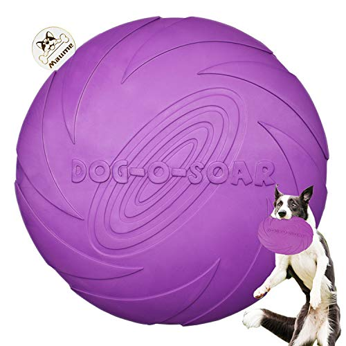 Maume Dog Frisbee Indestructible Disc Toy for Large Dogs Durable Soft Natural Rubber for Puppies Outdoor Pets Frizbee for Large Dogs Gift Interactive Toys