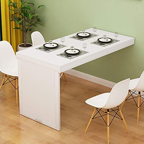 YNAYG Wand-Klapptisch An der Wand montierter klappbarer Klapptisch, ausklappbarer Esstisch, umwandelbarer Schreibtisch, platzsparender unsichtbarer Wandtisch, Schreibtisch für das Büro zu Hause