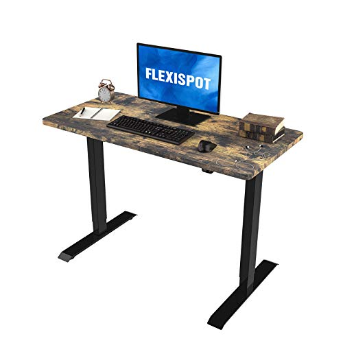 Flexispot Electric Height Adjustable Standing Desk, 48 x 24 Inches, Black Frame/Special Walnut (EC1 Classic 48, Special Walnut)