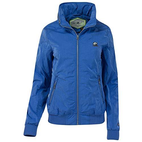 KHUJO Damen Übergangs-Jacke ABIQUA Jacket Kapuze Frühling Sommer (L, blau (419 COBALT))