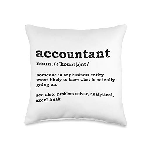 Funny Accountant Gifts & More Accountant Definition Funny Graphic Throw Pillow, 16x16, Multicolor