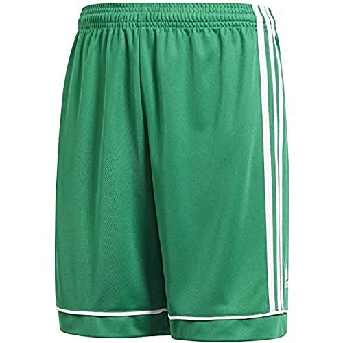 adidas Squadra 17 S, Pantaloncini da Calcio Bambino, Verde (Bold Green/White), 5-6 Y