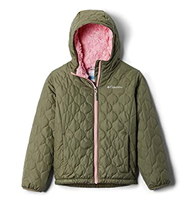Columbia Girls' Little Bella Plush Jacket, Stone Green, XX-Small