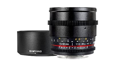 Samyang Cine SYCV85M-MFT 85mm T1.5 Cine Aspherical Lens for Micro Four-Thirds 85-85mm Fixed Lens for Olympus/Panasonic Micro 4/3 Cameras by Samyang