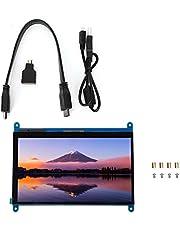 Oumefar 7-tums kapacitiv pekskärm HDMI skärm 800 x 480 100 % för Win10 för win8