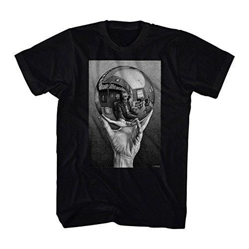 M. C. Escher- self-portrait in spherical mirror t-shirt size s