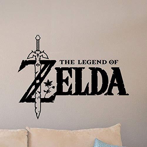 zzlfn3lv The Legend of Zelda Wandtattoo Master Schwert Poster Videospiel Aufkleber Gamer Room Sign Kinderzimmer Dekor Vinyl Aufkleber Spielzimmer 55 * 42 cm