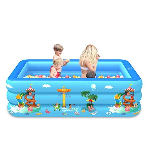 NIVNI Piscina inflable, Piscina Inflable Plaza Salón Piscina Inflable para Bebé Niños Jardín al aire libre Patio Trasero Fiesta del Agua de