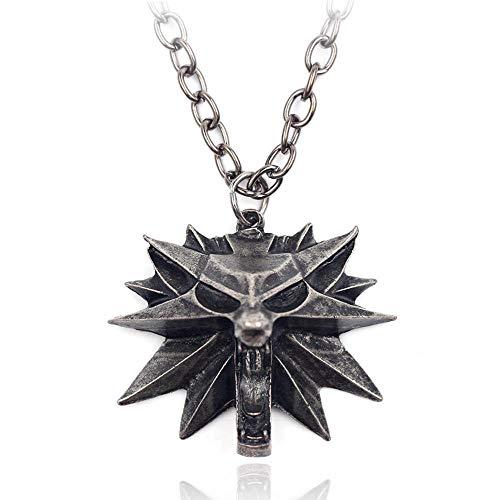 FOONEE The Witcher 3 - Collar con medallón de Caza Salvaje y Cadena