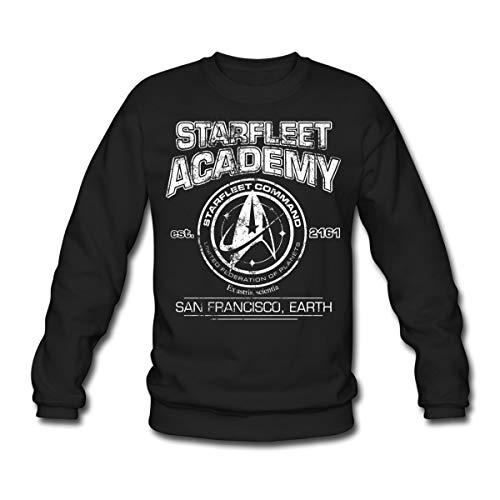 Star Trek Discovery Starfleet Collège Sweat-Shirt Unisex, XXL, Noir