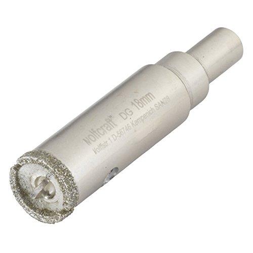 Wolfcraft 5920000 1 Diamant-Lochsäge Ceramic mit Schwamm, 10 mm Schaft Ø 18