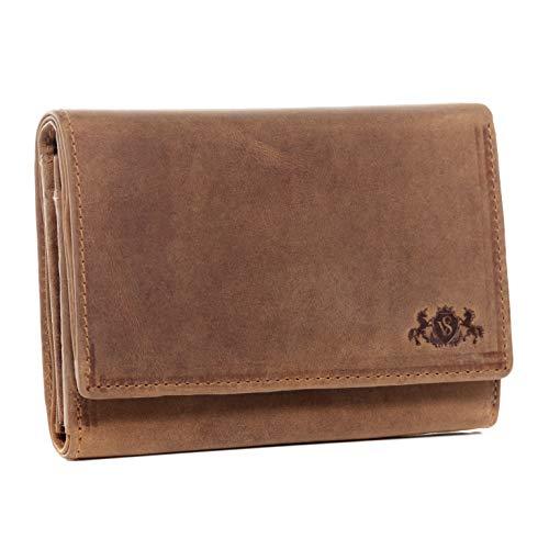SID & VAIN portemonnee echt leer LIA portemonnee portemonnee lederen portemonnee dames bruin