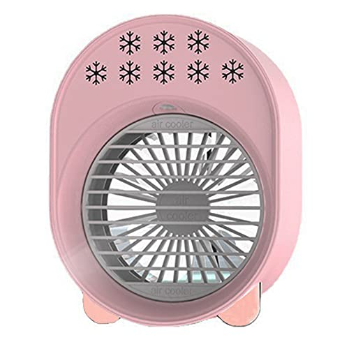 WSWD Mini refrigerador de Aire de Ahorro de Aire con Aire Acondicionado, humidificador de Rellenado USB, Control de Temperatura de Tres velocidades de 7 Colores luz de no