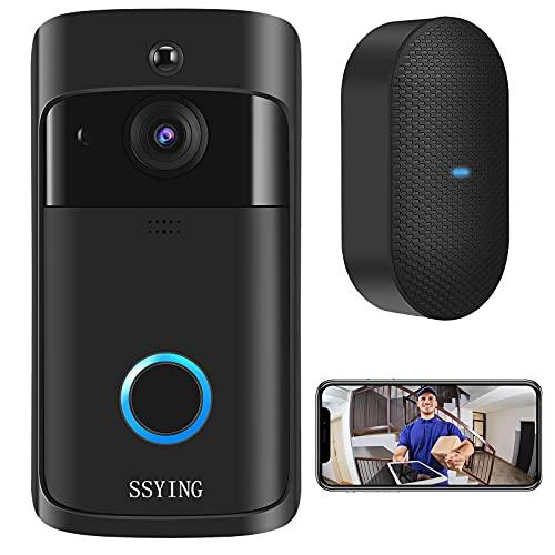 Video Doorbell Camera, IP65 Outdoor Waterproof, HD WiFi Wireless...