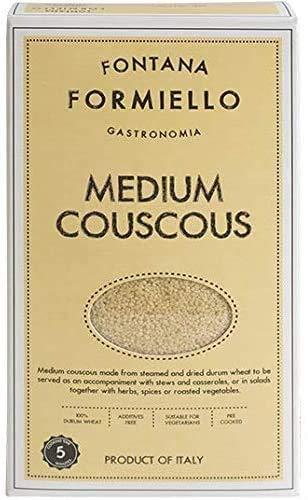 Fontana FORMIELLO Couscous, Semoule de blé dur 500g (Paquet de 4)
