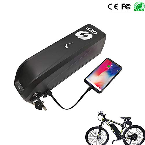QZF 48V 13AH Electric Bicycle Battery, E-Bike Lithium Battery with Charger, USB Port, BMS and Battery Level Light for 1000W 750W 500W E-Bike Motor Mountain Bicycle