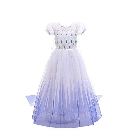 Jurebecia Traje de Princesa Vestido de niñas pequeñas Disfraz De Princesa para...