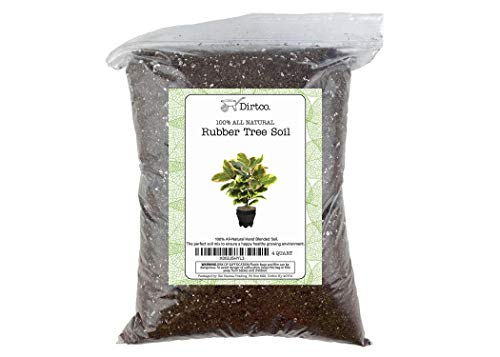 """Hand Blend Rubber Plant Soil, Soil Mix for Rubber Burgundy Ficus Plant, Repot from 4"""" Pot to Grower Pot or Larger, 4qt Rubber Tree Soil"""